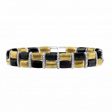 Henderson Collection yellow gold vermeil and diamond bracelet
