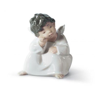 Lladro 01004539 Angel Thinking Figurine