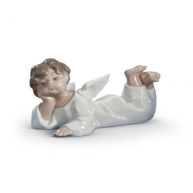Lladro 01004541 Angel Lying Down Figurine
