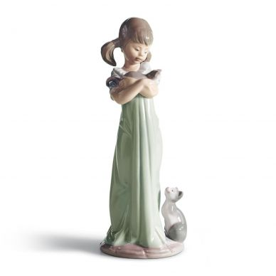 Lladro 01005743 Don't Forget Me Girl Figurine