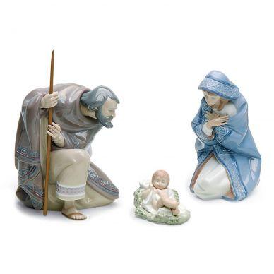 Lladro 01007804 Silent Night Nativity Figurine Set