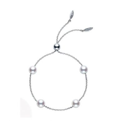 Mikimoto pearl station bracelet adjustable