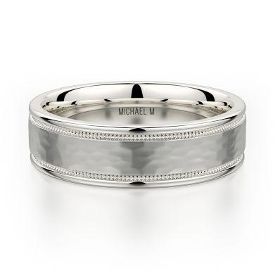 Michael M MB102 6.5mm Men's Platinum Wedding Band