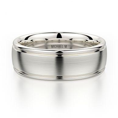 Michael M MB106 7.5mm Men's Platinum Wedding Band