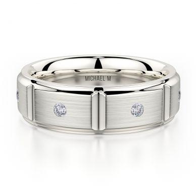 Michael M MB107 7mm Men's Platinum Wedding Band