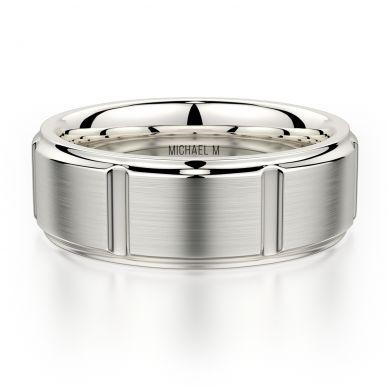 Michael M MB108 8mm Men's Platinum Wedding Band