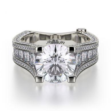 Michael M R302-2 Platinum Round Engagement Ring