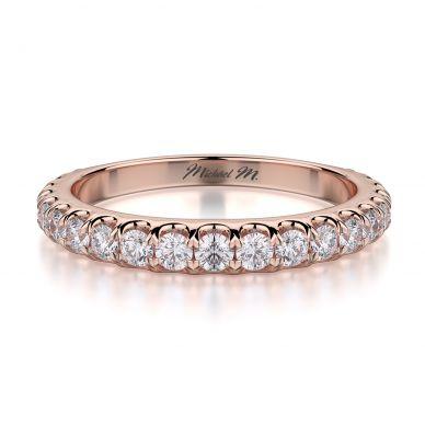 Michael M R693B Rose Gold Wedding Ring for Women
