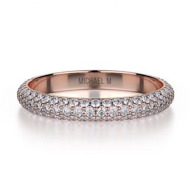 Michael M R699B Rose Gold Wedding Ring for Women
