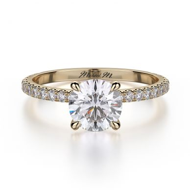 Michael M R706-1 Yellow Gold Round Engagement Ring