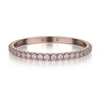 Michael M R706B Rose Gold Wedding Ring for Women