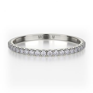 Michael M R706B White Gold Wedding Ring for Women