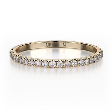 Michael M R706B Yellow Gold Wedding Ring for Women