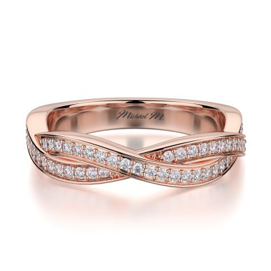 Michael M R709B Rose Gold Wedding Ring for Women