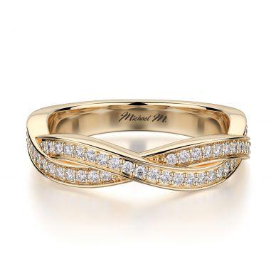 Michael M R709B Yellow Gold Wedding Ring for Women