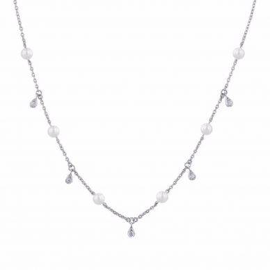 mikimoto diamond and pearl station necklace