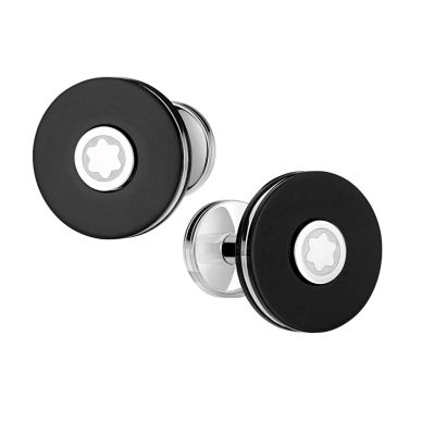 Montblanc PIX resin and steel cufflinks 116666