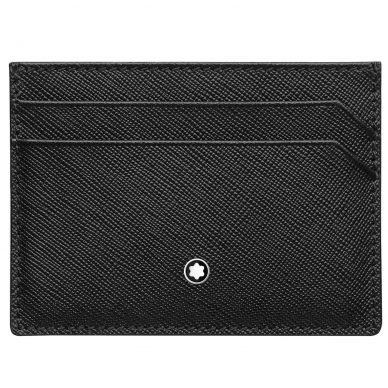 Montblanc Extream Black Leather 8 Card Holder Wallet 111144