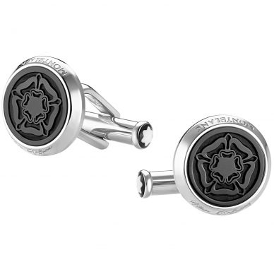 Montblanc Stainless Steel Tribute to Shakespeare Round Cufflinks 114765