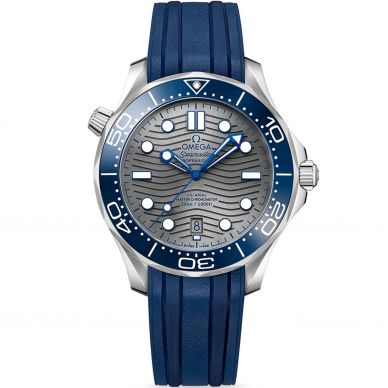 Omega Seamaster Diver Blue Bezel Watch 21032422006001at Sheiban Jewelers