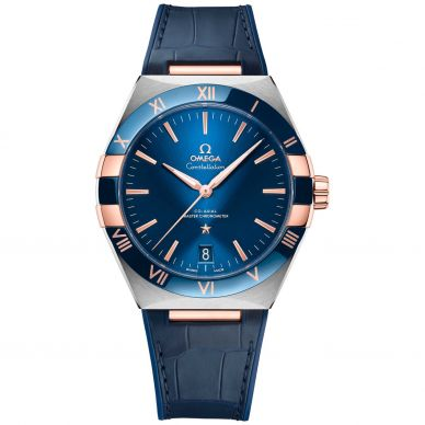 Men's Constellation Blue Dial Watch by Omega