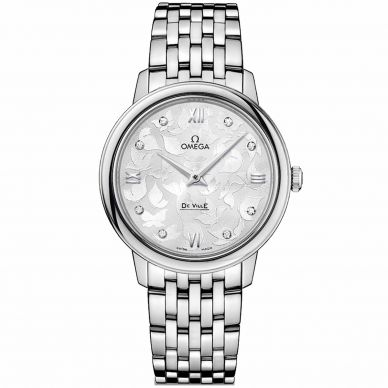 Omega De Ville Prestige Quartz diamond Womens Watch 424.10.27.60.52.001