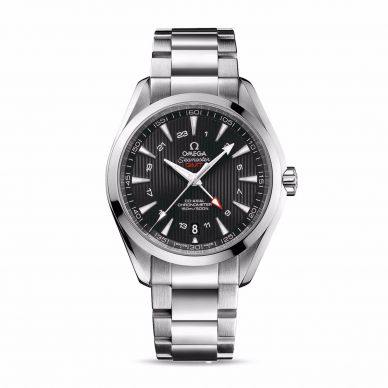 Omega Mens Diver 300M GMT Chronograph Watch 212.30.44.52.01.001