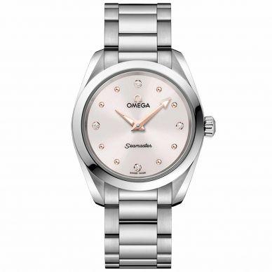 22010286051001 Omega Seamaster Diamond Womens Watch
