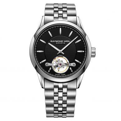 2780-ST-20001 Freelancer Black Steel Mens Automatic Watch