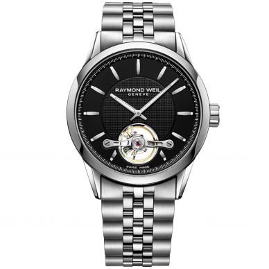 Raymond Weil Men's Black Steel Automatic Watch