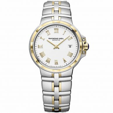 Raymond Weil Stainless Steel and Gold Womens Watch