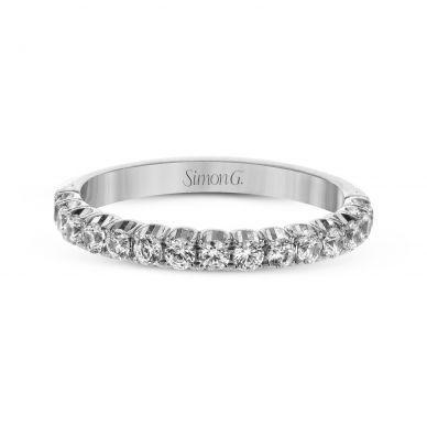 Simon G. LP2346 White Gold Pave Diamond Wedding Ring for Women