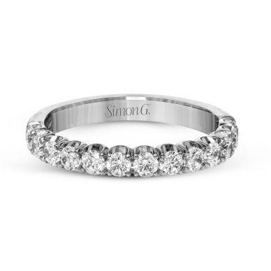Simon G. LP2347 Platinum Classic Diamond Wedding Ring for Women