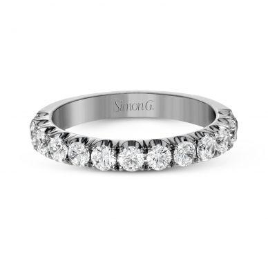 Simon G. LP2349 Platinum Classic Pave Wedding Ring for Women