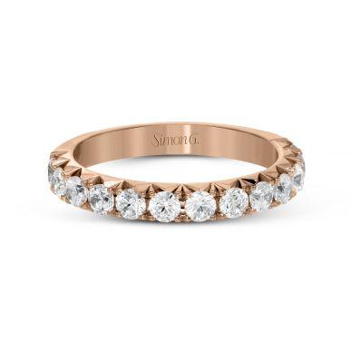 Simon G. LP2350 Pave Rose Gold Wedding Ring for Women