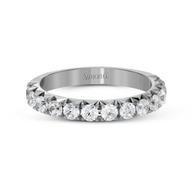 Simon G. LP2350 Platinum Unique Pave Wedding Ring for Women