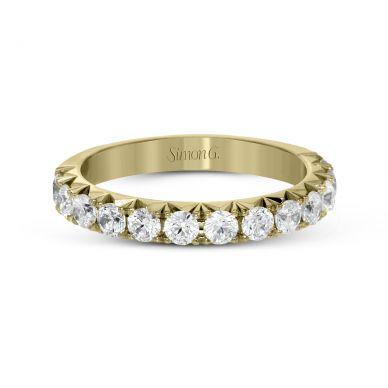 Simon G. LP2350 Yellow Gold Diamond Pave Wedding Ring for Women