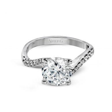 Simon G LR1000 White Gold Round Cut Engagement Ring