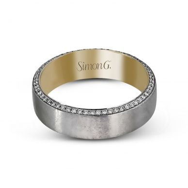 Simon G. MR2273 6mm Modern Statement Men's Platinum and Yellow Gold Wedding Band