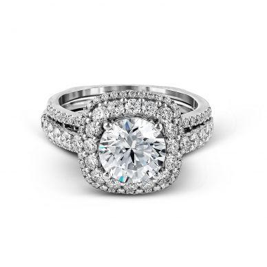 Simon G MR2434 Platinum Round Cut Engagement Ring