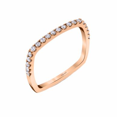 Rose Gold Diamond Wedding Band SJU5448R