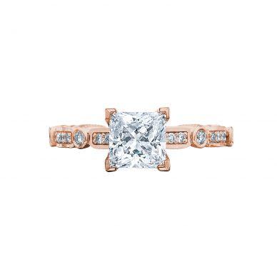 Tacori 202-2PR5-PK Sculpted Crescent Rose Gold Princess Cut Engagement Ring