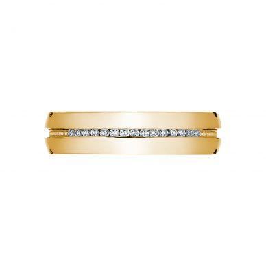 Tacori 2550 5-5mm Men's Sleek Yellow Gold Wedding Band