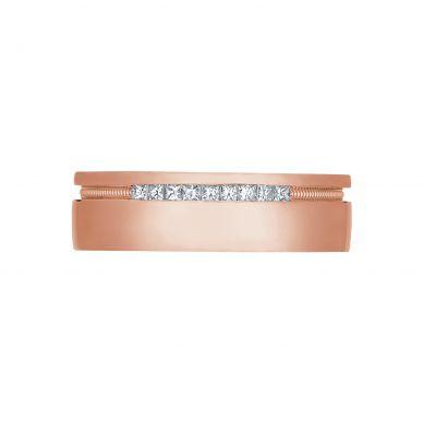 Tacori 2556PR 6-5mm Engraved Men's Rose Gold Wedding Band
