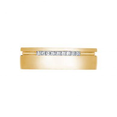 Tacori 2556PR 6-5mm Engraved Men's Yellow Gold Wedding Band