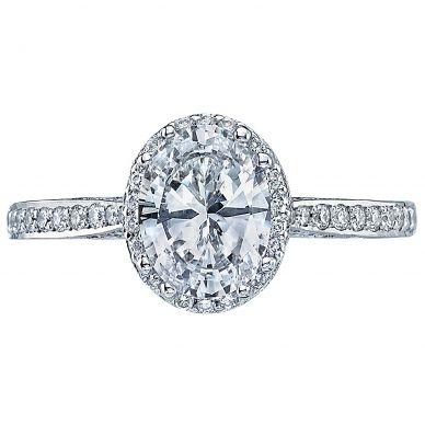 2620OVMDP Dantela Platinum Oval Engagement Ring