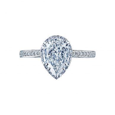 Tacori 2620PS8X5P Dantela Platinum Pear Shaped Engagement Ring