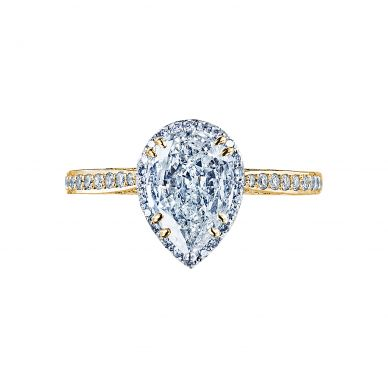 Tacori 2620PS8X5P-Y Dantela Yellow Gold Pear Shaped Engagement Ring
