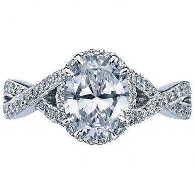 2627OVLG Dantela Platinum Oval Engagement Ring