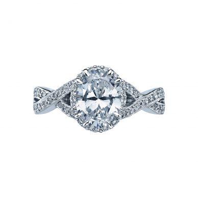 Tacori 2627OVLG Dantela Platinum Oval Engagement Ring